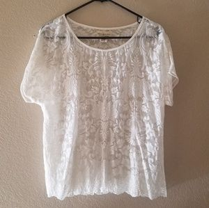Off white lace top by Ralph Lauren